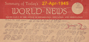 World News of Link-Up - 27-Apr-1945